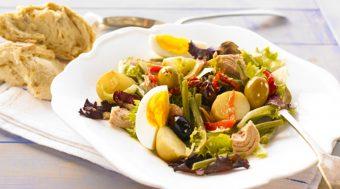 Nouveau Niçoise with Mediterranean olives