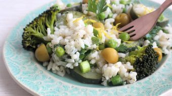 Spring Vegetable, Lemon & Olive Risotto