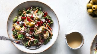 Winter Rainbow Olive & Quinoa Salad